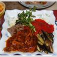 牛肉の煮込み トマトとなすのソテー添え