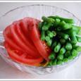 トマトとインゲンのサラダ