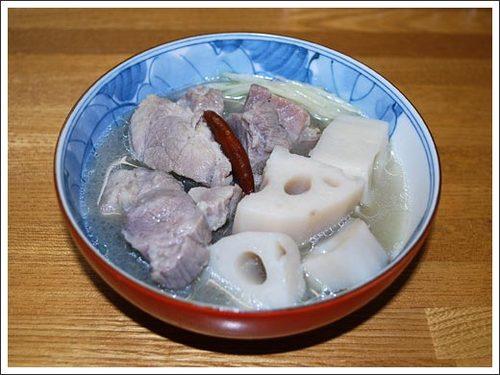 塩豚と蓮根のスープ