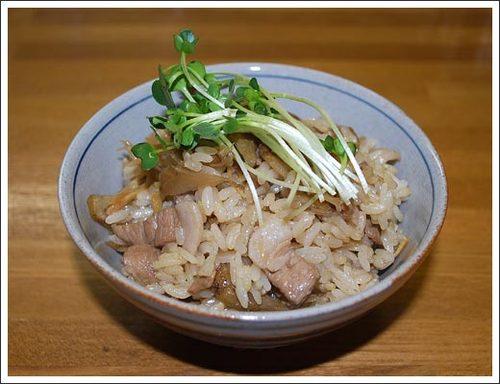 豚肉とごぼうの混ぜご飯
