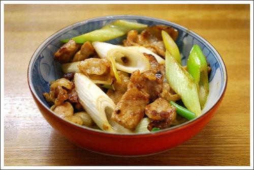 豚肉とねぎの味噌炒め