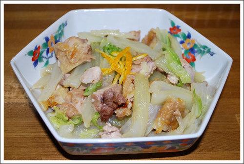 鶏と白菜の柚子風味