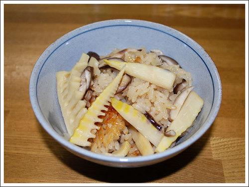 筍と椎茸の炊き込みご飯