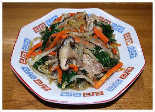 野菜肉炒め