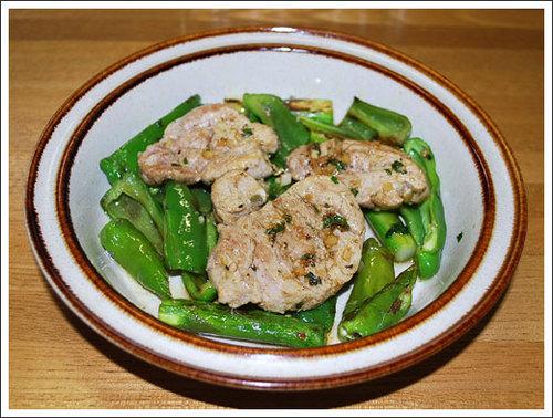 豚フィレと野菜のソテー
