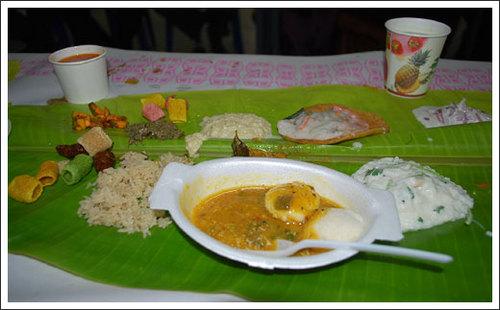 インド婚約式での招待料理