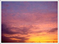 日没後の西の空・グラデーション