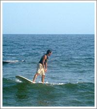 サーフィン練習中