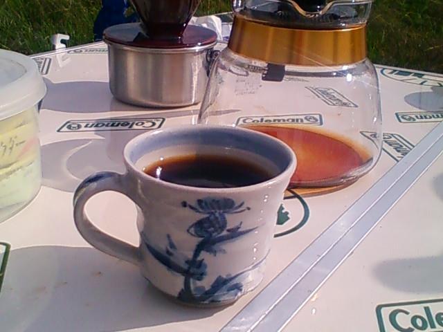 食後のコーヒータイムです。