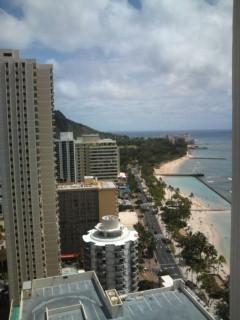 ハワイは風が吹いています。