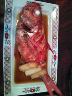 夕飯は萬蔵丸でいただいています。