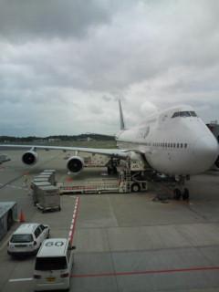 THAI航空でバンコクに向かいます。
