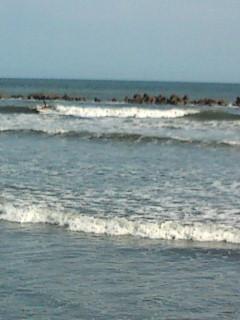 波はインサイドで割れるようになりました。