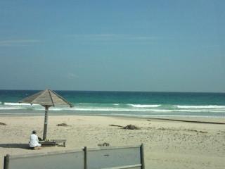 白浜でのサーフィンを終えて、帰ります。