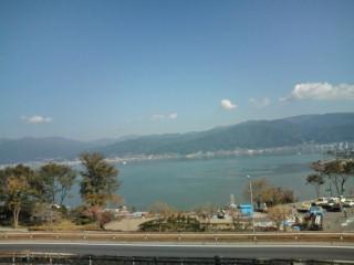 諏訪湖SAからの眺め