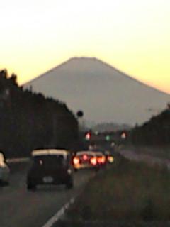夕方のすっきり富士山。