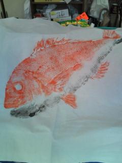 超大物真鯛魚拓完成品