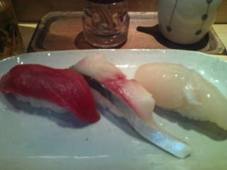 たつ郎寿司ランチ握り大盛り追加。