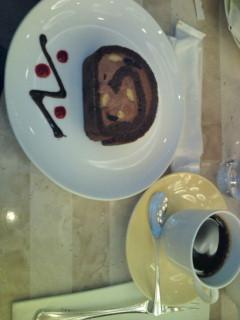 東京ドーム喫茶のケーキセット