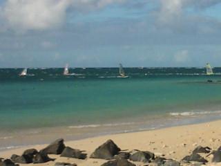 MAUI KANAHAの風とウインドサーファー。