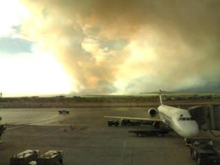 MAUI KAFULUI空港。